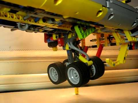 Lego Technic jet aircraft main landing gear-prototype (MOC)
