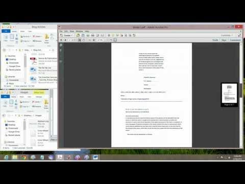 Merge PDF' Documents Tutorial