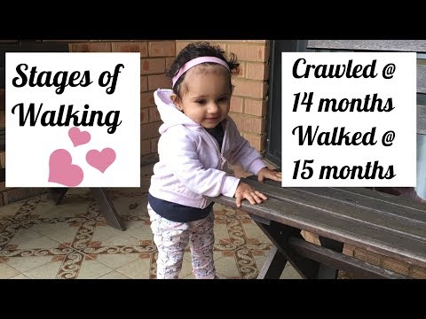 Stages of Walking for a late crawler & walker | Baby's first steps
