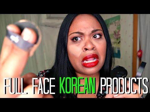 BLACK GIRL does FULL FACE using ONLY KOREAN MAKEUP! CHALLENGE