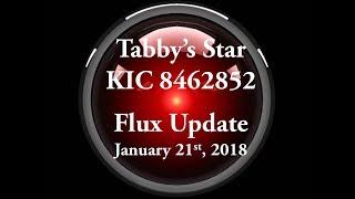 Tabby's Star KIC 8462852 Flux Update for January 21, 2018