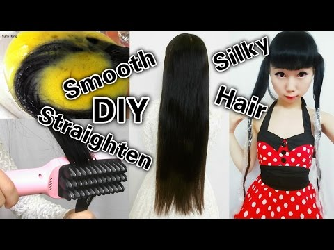 DIY:How to Get Smooth & Silk Hair at Home + Straighten Hair Instanlty With Brush + Giveaway Winners