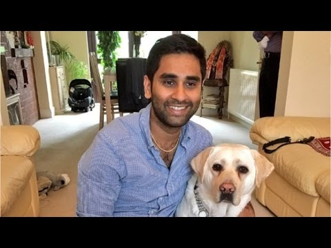 GoPro records struggles of blind man and his guide dog