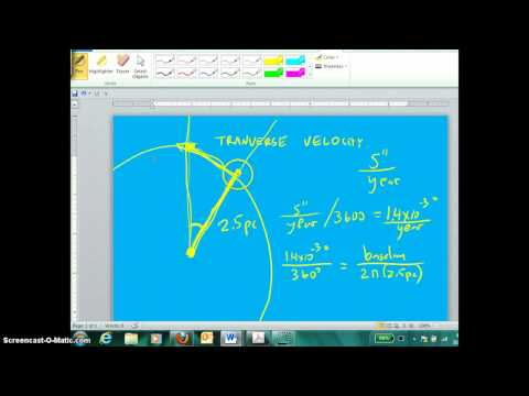 Parallax used to find transverse velocity