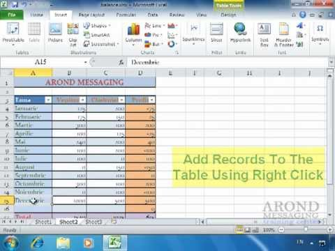 Using Excel 2010 - Convert a Range to a Table