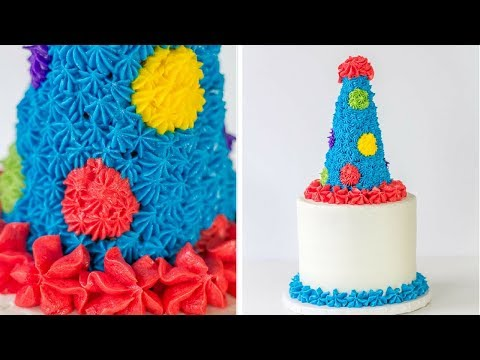 Edible Party Hat Cake Topper Tutorial