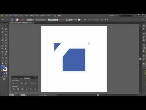 60 Second Illustrator Tutorial : Slice and Divide Shapes with Pathfinding -HD-