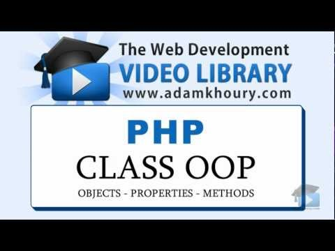 PHP Tutorial - OOP Class Properties and Methods Object Oriented Programming