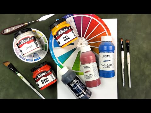 What is Colored Gesso and Why Use It ? A Ginger Snap Lesson