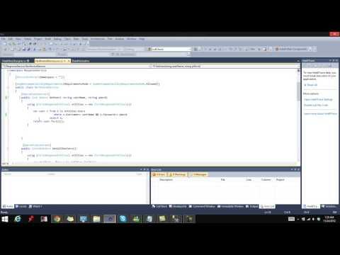 Creating WCF Service Visual Studio C#
