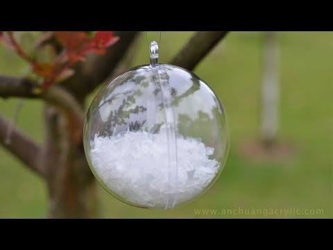 Clear plastic fillable ball Christmas ornaments