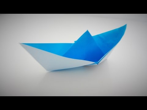 Traditional origami boat