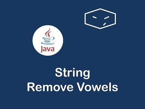 string remove vowels in java