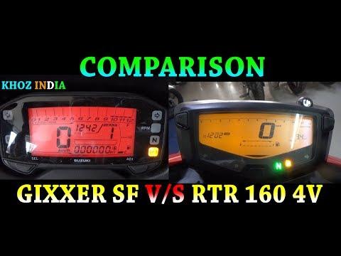 APACHE RTR 160 4V VS SUZUKI GIXXER SF COMPARISON 2018