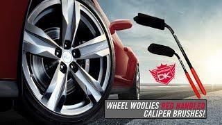 Wheel Woolies Caliper Brushes w/RED HANDLES - Detail King