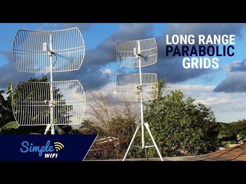 5GHz WiFi Long Range Parabolic Grids - 802.11a/ac Long Range Antennas