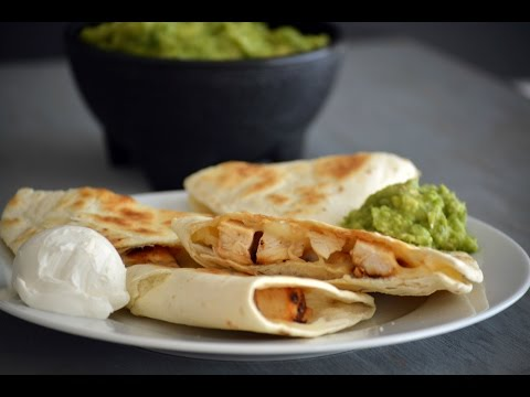 Basic Chicken Quesadilla Recipe | How To Make A Chicken Quesadilla | SyS
