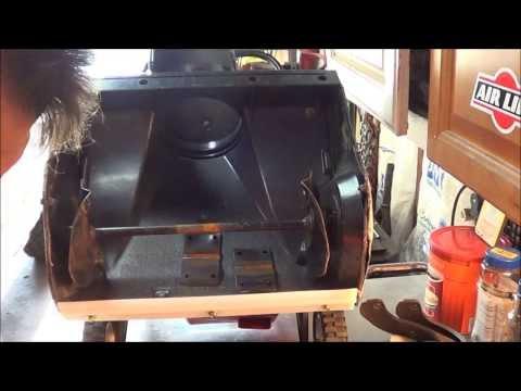 12-1-13 Toro Powerlite how to change paddles, scraper, belt idler and spark plug