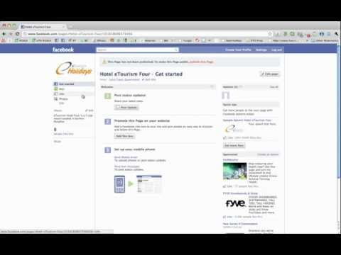 How to create a Hotel Facebook Fan page pt1