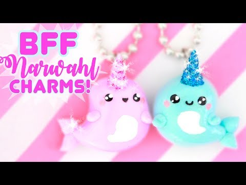 DIY BFF Narwhal CHARMS - with GLITTER!! | Kawaii Friday