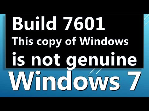 HOW TO REMOVE windows 7 build 7601 this copy of windows is not genuine