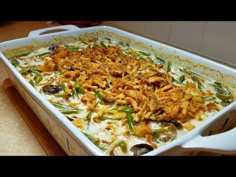 Green Bean Casserole Recipe (Mushroom Cream Sauce Recipe)