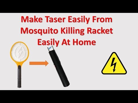 Make Taser Easily At Home From Mosquito Killing Racket