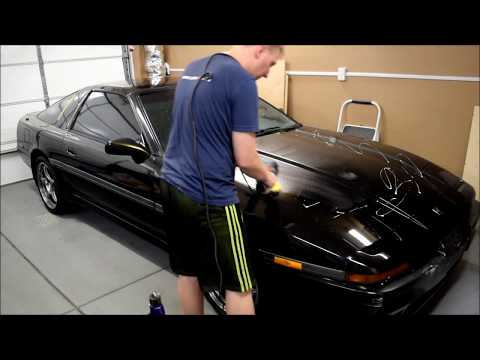 Paint Restoration on a MK3 Supra - What a DA Polisher Can Do to Old Paint