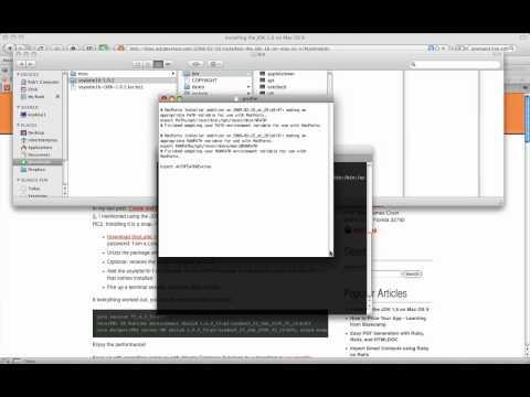 Installing the JDK 1.6 on Mac OS X