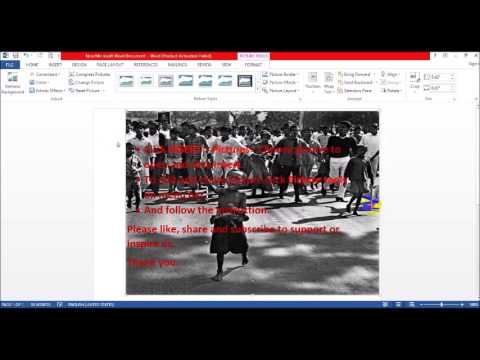 How to insert picture and make background in Microsoft word