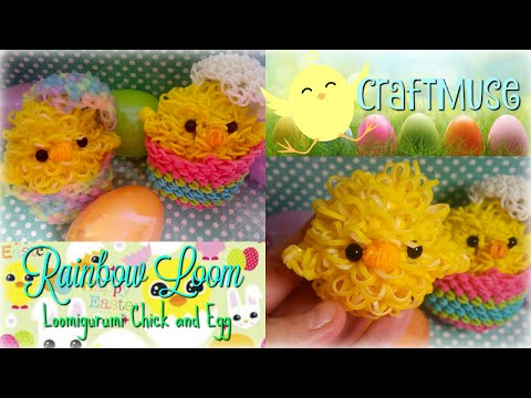 Rainbow Loom Loomigurumi Chick and Egg