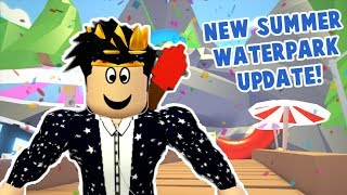 THE NEW SUMMER SALE AND WATERPARK UPDATE IN ADOPT ME! Slide is danger...