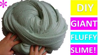 HOW TO MAKE GIANT FLUFFY SLIME! TWIN SISTERS SLIME CHALLENGE!