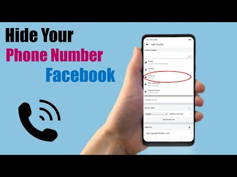 How to Hide Your Phone Number on Facebook 2018 Latest Updates on Mobile