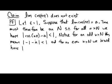 Showing a limit that does not exist using epsilon-N