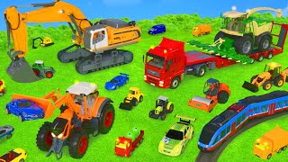 Tractor, Excavator, Dump Truck, Race Cars & Fire Trucks Toy Vehicles for Kids