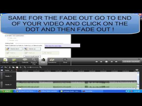 Camtasia studio:add fade in and out effects to music