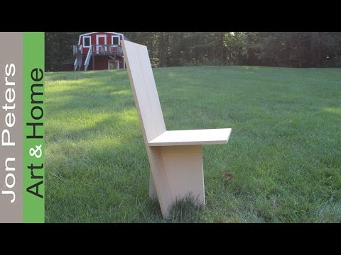 Build a full size Model Chair with MDF