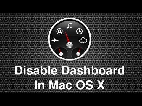 Disable Mac OS X Dashboard