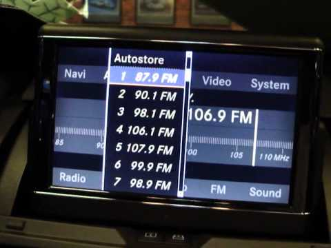 How to set a radio station in C-class, E-class & S-class models 2010 or newer