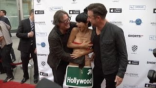 Bai Ling with Movie Director Jefery Levy and David Arquette | Candid Video