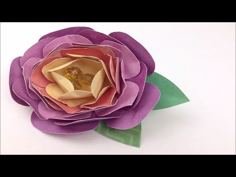 How to Make a Paper Flower Brooch With DCWV DIY Project Stack: Flowers