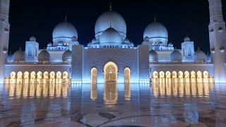 Abu Dhabi Grand Mosque Sunset grand Tour at Night Sheik Zayed Grand Mosque 2017 United Arab Emirates