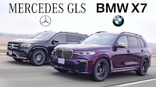 2020 BMW X7 vs Mercedes GLS Review - $100,000 Luxury SUV Battle