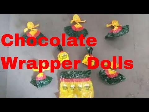 Chocolate wrapper doll making my grandma