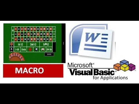 Use MS Word to Play Roulette Casino Game - Word VBA Macro!