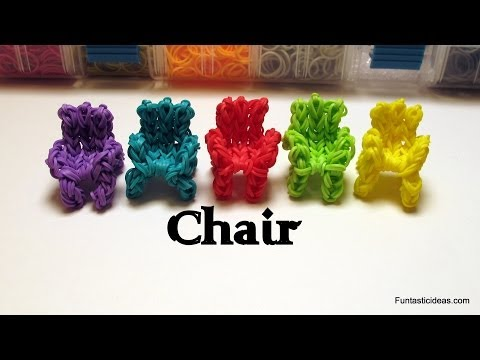 Rainbow Loom 3D Chair/Sofa/Couch Charm - How to - Home Series