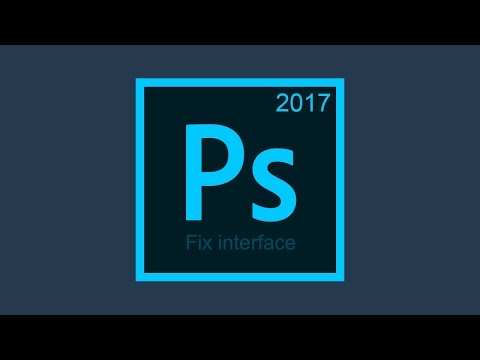 Fix the interface in Photoshop CC 2017 on Hi DPI Windows displays
