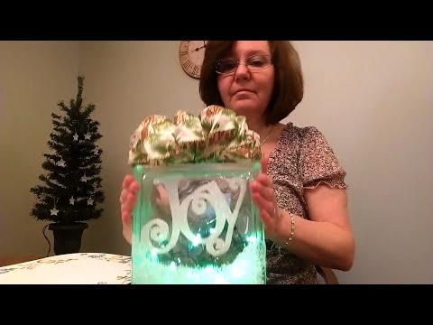 Christmas Craft ~~ Decorating A Glass Block