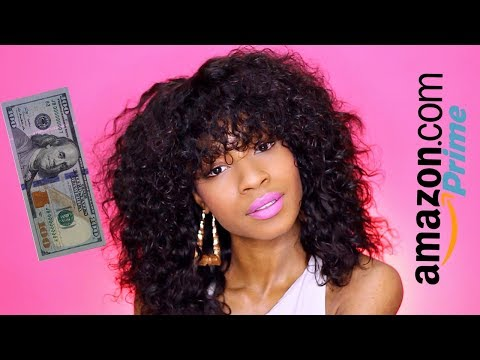 DIY Curly Wig with Bangs► Amazon Prime Maxine Hair under $100
